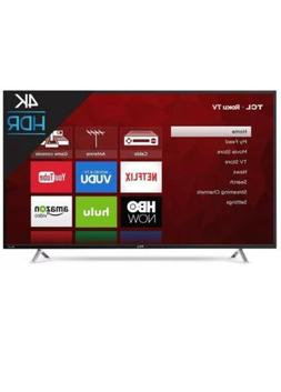 "TCL 50"" Smart 4K TV Ultra LED Roku 3HDMI/1USB Ports Built"