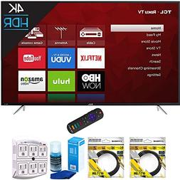 "TCL 65"" 4K 120Hz Ultra HD Dual Band Roku Smart LED TV Black"