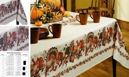 Thanksgiving Printed Fabric Tablecloth, 60-Inch-by-120 Inch