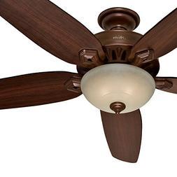 """Hunter Fan 70"""" Traditional Ceiling Fan in Northern Sienna wi"""