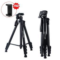 Camera Tripod 60 Inch Portable Travel Aluminum Lightweight T