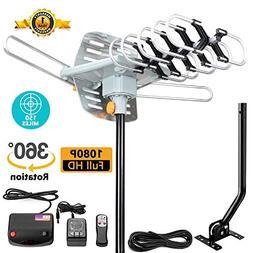 TV Antenna -Outdoor Amplified HDTV Antenna 150 Mile Motorize