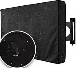 "Outdoor TV Cover 60"" - 65"" Black Weatherproof Universal Prot"