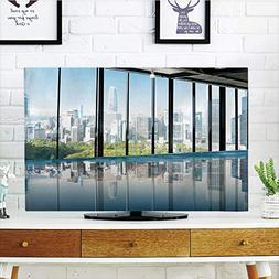 LCD TV Cover Lovely,Modern Decor,Metropolitan Cityscape of N