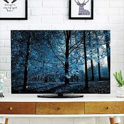 LCD TV Cover Multi Style,Woodland Decor,One September Aftern