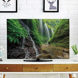 iPrint LCD TV dust Cover Customizable,Waterfall Decor,Waterf