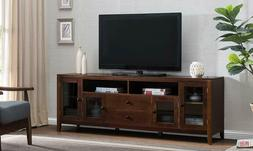 """TV Stand 60"""" or 72"""" Flat Screen Home Furniture Entertainment"""