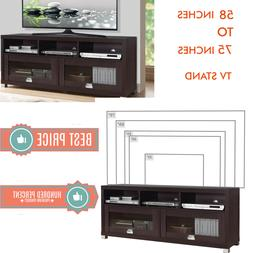 TV STAND 65 Inch TV 60 Inches 75 Inches Flat Screen Wood Med