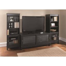 "TV Stand for TVs up to 55"", Black, Fits Most Flat Panel TVs"