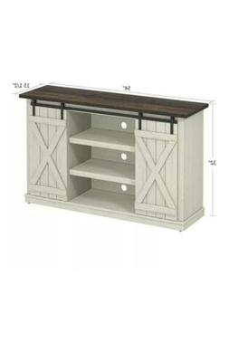 TV Stand Console For 60 Inch Flat Screen Barn Door Wood Ente