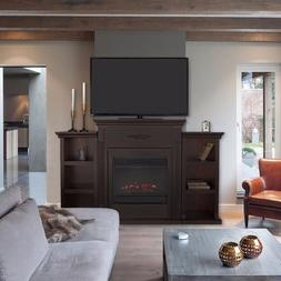 Electric Fireplace +Mantle Storage Shelf Heater LED 3D Flame
