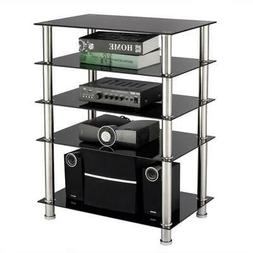 TV Stand For 60Inch Tv Flat Screens 5 Shelves Entertainment