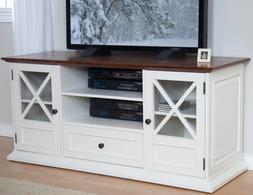 TV Stands for Flat Screens Myspace 55 60 Inch White Wood Gla