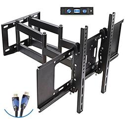 TV Wall Mount with Dual Articulating Extension Arm, Tilt, Sw