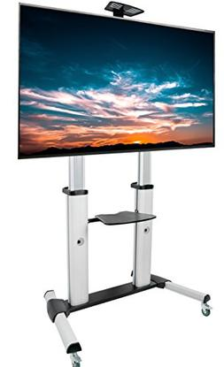 VIVO Ultra Heavy Duty Mobile Stand TV Cart Mount Fits 60 to