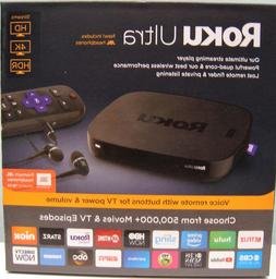 ROKU ULTRA HD 4K MEDIA STREAMER 4670R  - BLACK , NEW IN BOX