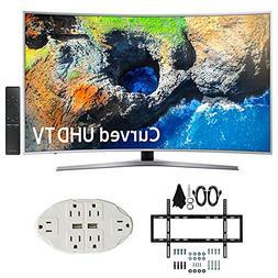 """Samsung UN49MU7500 48.5"""" Curved 4K UHD Smart LED TV  w/ Wall"""