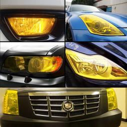 Universal 12x60inch Golden Yellow Headlight Tailight Fog lig