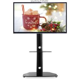 Universal Floor TV Stand with Mount and Shelf for 27 to 55 i