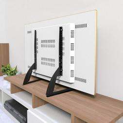 "Universal Table Top TV Stand Base Mount for 27- 65"" Height A"