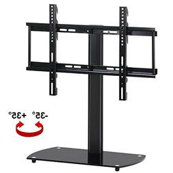 Topeakmart Universal LCD TV Base Stand with Adjustable Mount