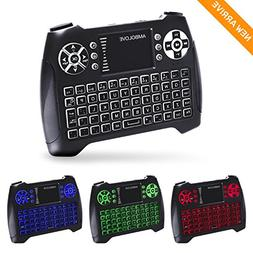 Backlit Wireless Mini Keyboard with Touchpad Mouse and Multi