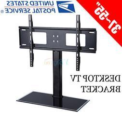 US LCD LED PLASMA FLAT TV WALL MOUNT BRACKET With Stand Base