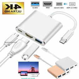 USB Type C to HDMI HDTV AV TV Cable Adapter For Samsung Note