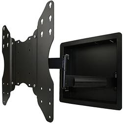 In Wall Recessed Full Motion TV Mount with Zero Clearance fo