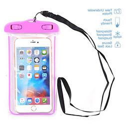Waterproof Case, SUMOON Universal Clear Waterproof Cellphone