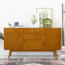 New 60 Inch Wide Mid-Century Modern Television Stand in Acor