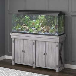 Ameriwood Home Wildwood Aquarium Stand, 55 gallon, Rustic Wh