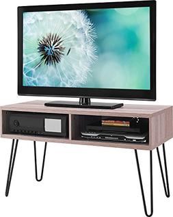 Yaheetech Wood TV Stand Home Entertainment Center Console Ta