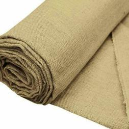 60 inch x 10 yards Natural Brown Burlap Fabric Roll
