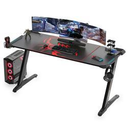 z60 black gaming desk with led lights