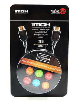 UpStar ZP10-10 6 Foot HDMI 1080p High-Speed HDMI 1.4 Cable 6